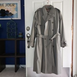 Double Breasted Trench Coat Olive, Removable Liner